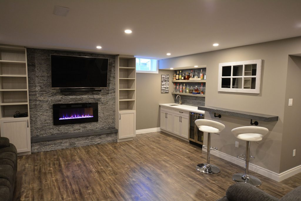 Basement Renovation Project Grimsby, Ontario